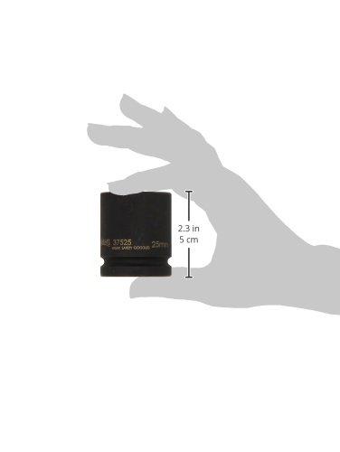 Williams 37525 1//2-Inch Drive Standard Impact Socket 25mm 6-Point