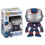 "Iron Patriot: ~4"" Funko POP! 'Iron Man 3' Vinyl Bobble-Head Figure"