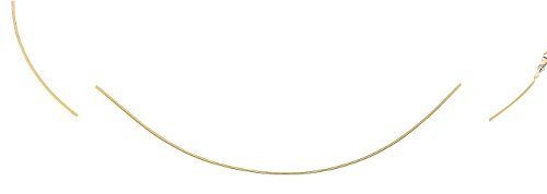 DIAMANTLY Collier omega reversible or gris et jaune 750 D,1,2 mm - 42 cm