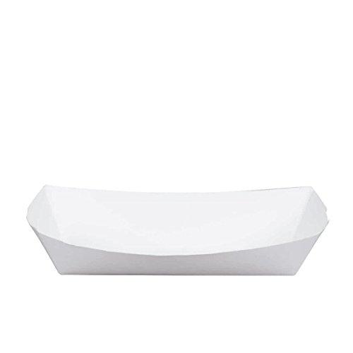 50 White Paper Hot Dog Tray 7