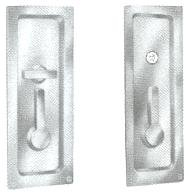 Baldwin 8580 Privacy Sliding Door Lock, Polished Brass
