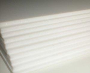 10 lastre di Carton Mousse, spessore 5 mm, formato A4, 21 x 29,7 mm, colore: bianco Générique