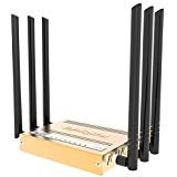 Bydigital 300Mbps Wireless wifi Router 6 antenna router 30Dbi 2.4GHz Gold color