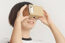 ScienceRUS DIY Kids Friendly Cardboard Virtual Reality Headset - Encouages Creativity and Wonder Educational Compatible with iPhone and Android Smartphones up to 6 Inch
