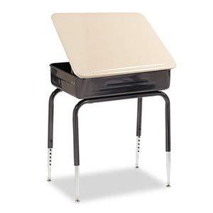 Virco Lift-Lid Student Desk, 24W X 18D, Sandstone, 2/Carton ()