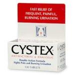 Cystex antibactériens urinaires et analgésique Comprimés Soulagement de la Douleur, 100 pièces