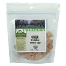 Woodstock Farms Organic Crystallized Ginger Chunk, 5.5 Ounce - 8 per case. by Woodstock