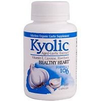Kyolic - Formula 106 Aged Garlic Extract for Circulation - 3 Pack of 100 Capsules (300 Capsules Total)