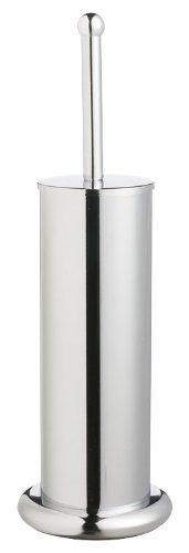 Wenko 15069100 Porte Brosse WC Rondo Chrom/é Dimensions 12,5 x 41 cm