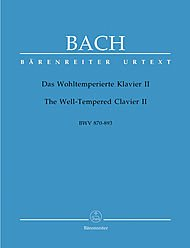 The Well-tempered Clavier, Book Ii (48 Praludien Und Fugen in Allen Dur- Und Molltonarten. Band 2. Urtext Der Neuen Bach-ausgabe). Edited By Alfred Durr. For Solo Piano. Baroque. Thematic Index, Performance Notes and Introductory Text.