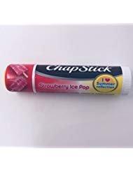 Ltd Ice - Chap Stick Lip Balm Strawberry Ice Pop , 1 Lip Balm Limited Edition