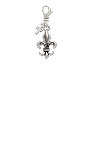 Mini Antiqued Cross Charm - 6