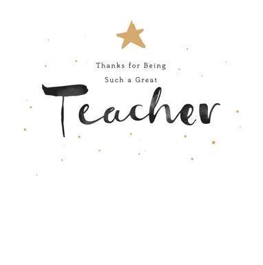 Tarjeta de felicitación de agradecimiento para maestro ...