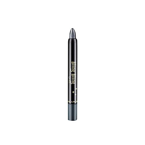 Longxan Eye Shadow Stick-Eyes Waterproof Pearlescent Eye Shadow Stick,Long-Lasting Beauty Highlighter Eyeshadow Pencil for Woman (03#Stereoscopic Black)