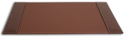 Dacasso Rustic Brown Desk Pad with Side-Rails, 25.5 by 17.25-Inch