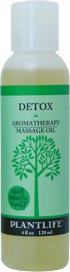 Detox Aromatherapy Massage Oil - 4 oz