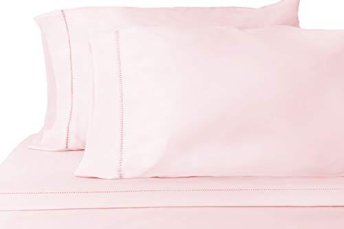 Grace Premium Microfiber Sheet Set - Super Soft, Deep Pocket, Embellished with Hypoallergenic, Wrinkle Resistant and Fade Resistant Brushed Microfiber – 3 Piece Set (Twin, Pink)