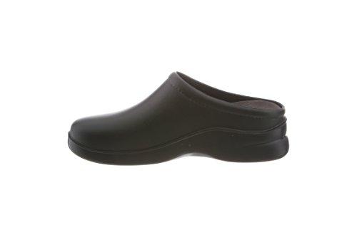 Klogs KL-EDGE---BLK011MED Men's Comfort Slip On Black Casual Clog