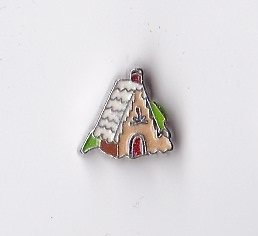 Christmas Gingerbread House Floating Charm ()