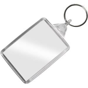 Insert your own passport Blank Photo keyring x 1 unit