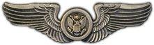 US Army Air Crew Wings Lapel Pin