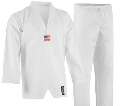 Pro Force 5oz Ultra Lightweight 5oz TKD Uniform (with Flag) - 4