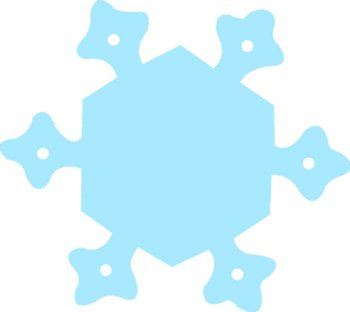 Snowflake Two-Color Super Cut-Outs