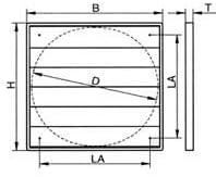 Nennweite :NW 150 mm selbstt/ätige Verschlussklappe CasaFan VKS f/ür Abluft in verschiedenen Nennweiten,