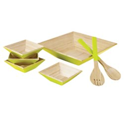 Orbit Salad - Orbit 7-Piece Salad Bowl Set, Green