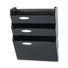 Rubbermaid. Classic Hot File Wall File Systems, Letter, Three Pockets, Smoke (L16603) (Rubbermaid Pocket Three)