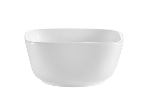 CAC China CTY-B4 Citysquare 4-Inch 6-Ounce Super White Porcelain Square Bowl, Box of 48 by CAC China