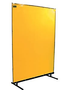 Steiner 534-6X6 Protect-O-Screen Classic Welding Screen with Flame Retardant 14mm Yellow Tinted Transparent Vinyl Curtain, 6' x 6'
