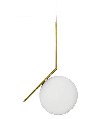 JKLcom Globe Pendant Lighting Modern Pendant Hanging Light One-Light Fixture E27 Globe Milky White Glass Shade Hanging Light Lamp for Loft Home Kitchen Coffee Bar,7.8 inch