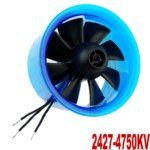 Mystery HL6408 2427-4750KV Motor with 64mm Ducted Fan for RC Helicopter(Blue)