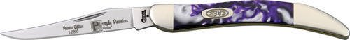 Case Cutlery 910096PP Purple Passion Toothpick Pocket Knife with Stainless Steel Blade, Purple and White Mixed Corelon