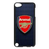 (FEEL.Q- Arsenal F.C. Personalized Hardshell Plastic Black Cover Case for iPod Touch 5 5th Generation)