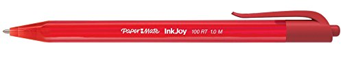 Paper Mate InkJoy 100RT Retractable Ballpoint Pens, Medium Point, Red, Box of 12 (1951252) Photo #2