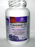 Organic Flaxseed Oil 1000 mg 200 Counts High in Omega 3 (High In Omega)