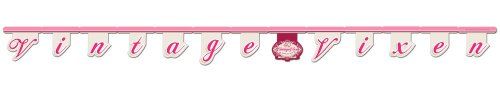 Creative Converting Vintage Vixen 40th Birthday Jointed Letter Banner