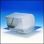 Systemair RC8 Fantech Roof Caps, 8 In. Duct, Galvanized S...