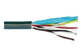 Alpha Wire 1898/8C SL005 Cable, Unshielded; 8; 18 AWG; 16 x 30; 0.31 in.; 0.016 in.; Color-Coded PVC