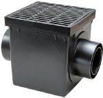 NDS 900BKIT 9-Inch Catch Basin Kit, Black