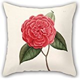 Artistdecor Flower Pillowcase 18 X 18 Inches / 45 By 45 Cm Best Choice For Dance Room,car,bench,valentine,father,monther With 2 - Shells Needlepoint Natural