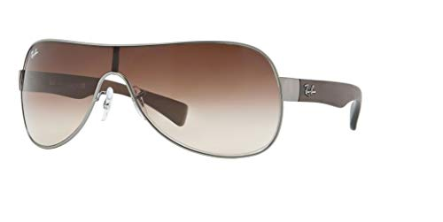 - Ray-Ban RB3471 029/13 32M Matte Gunmetal/Brown Gradient Sunglasses For Men For Women