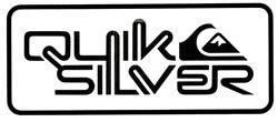 - Quicksilver Surfboard die cut Decal Vinyl White Sticker 12''width By 5'' Height