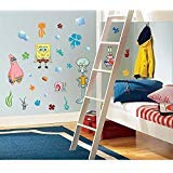 (45 New SPONGEBOB SQUAREPANTS WALL DECALS Kids Bedroom Stickers Room Decorations)