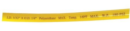 Tubing, Poly, 1/4 In, 180 PSI, 100 Ft, Yellow