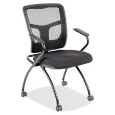 Lorell LLR84374 Guest Chair44; 24 in. x 27 in. x 26 in.44; 2-CT44; Black by Lorell