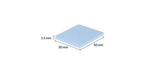 Thermal Pad Soft Thermal Silicone Pad 8.0 W/mK for All CPU Coolers - Efficient Thermal Conductivity - Gap Filler Safe Handling - Easy to Apply (1 Sheet 50 x 50 x 1.5 mm)