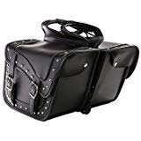 Motorcycle Braided Studded Saddlebags - Waterproof Motorcycle Luggage SD1485 - 12